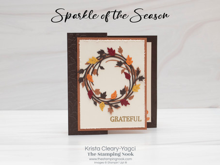 Stampin' Up! Sparkle of the Season Fun Fold Card for Thanksgiving