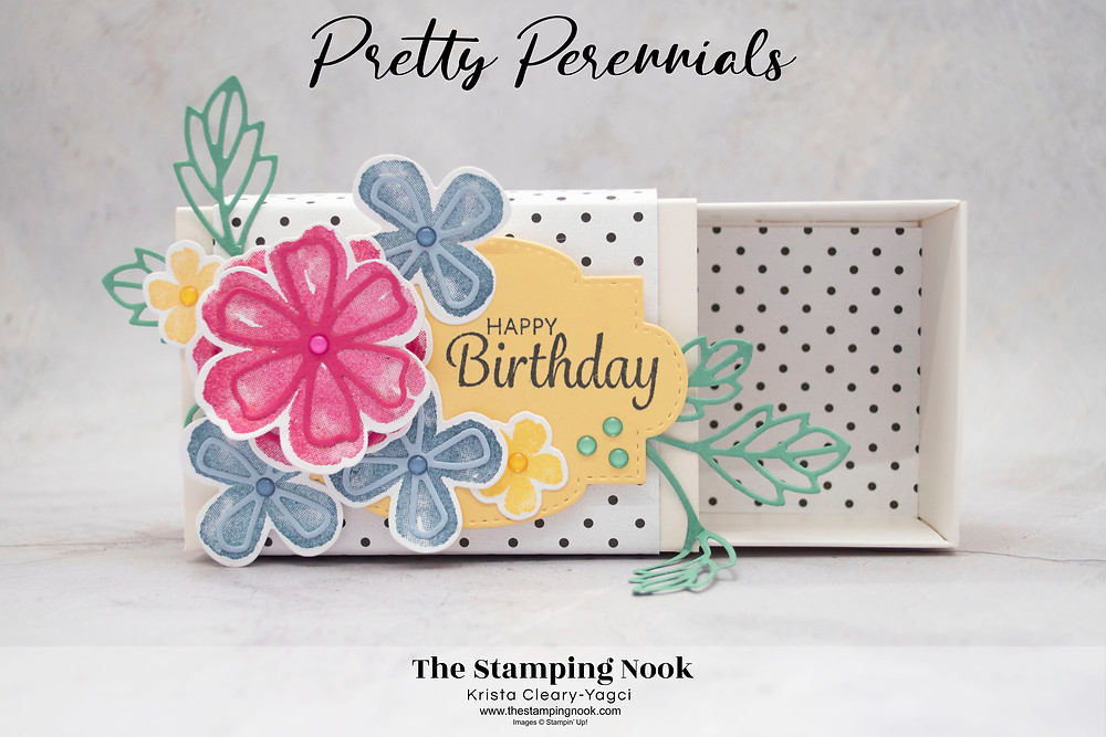 Stampin' Up! Pretty Perennials Card Ideas - Love You Always Treat Box - Gift Box - The Stamping Nook - Krista Yagci