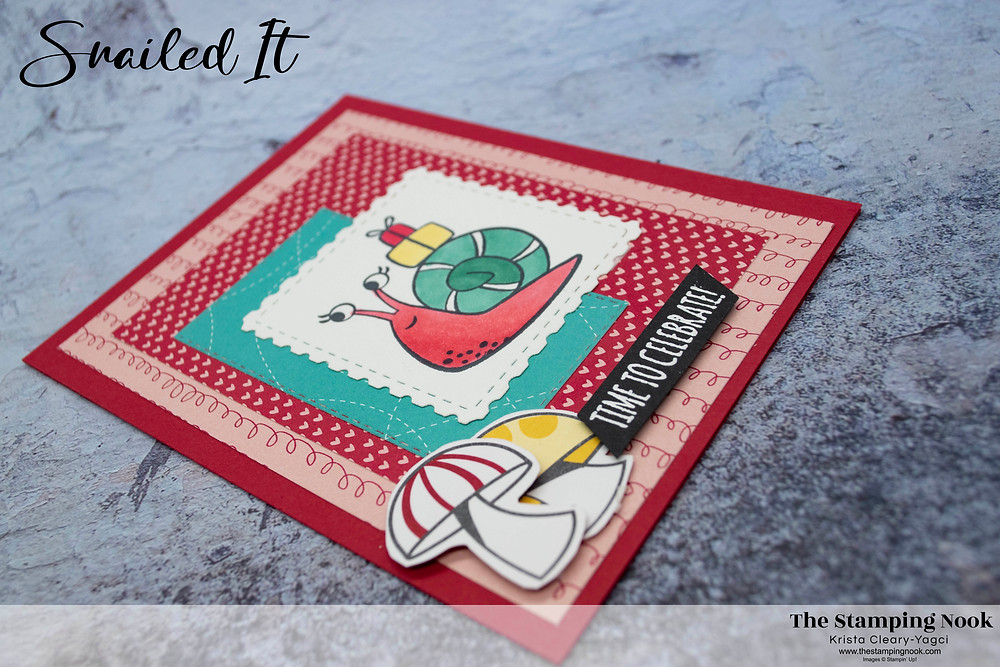 Stampin' Up! Snailed It Card - Stampin' Up! Birthday Cards - Stampin' Up! Snail Mail Cards - Stampin' Up! Snailed It Card Ideas - The Stamping Nook - Krista Cleary-Yagci