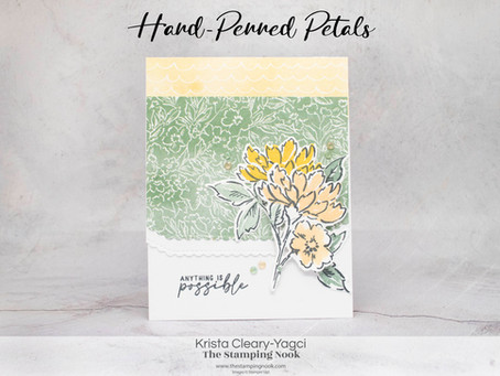 Stampin' Up! Hand-Penned Petals Inspirational Card for the Cards for Kindness Initiative