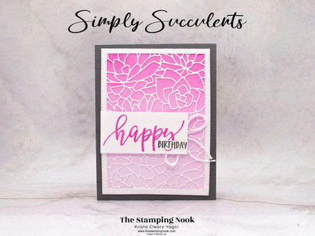 Stampin' Up! Simply Succulents and Pretty Perennials Happy Birthday Card
