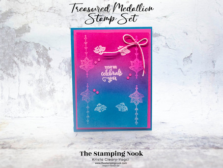 Stampin' Up! Treasured Medallion Emboss Resist Card for The Spot Challenge