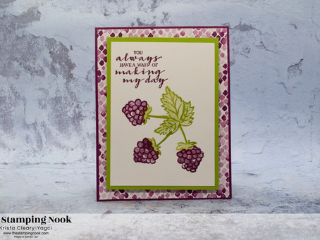 Stampin' Up! Berry Blessings and Berry Delightful Blackberries Card