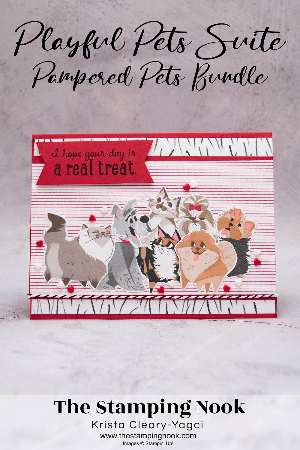 Stampin' Up! Card Ideas - Stampin' Up Pampered Pets Cards - Stampin' Up Playful Pets Cards by The Stamping Nook Krista Cleary-Yagci