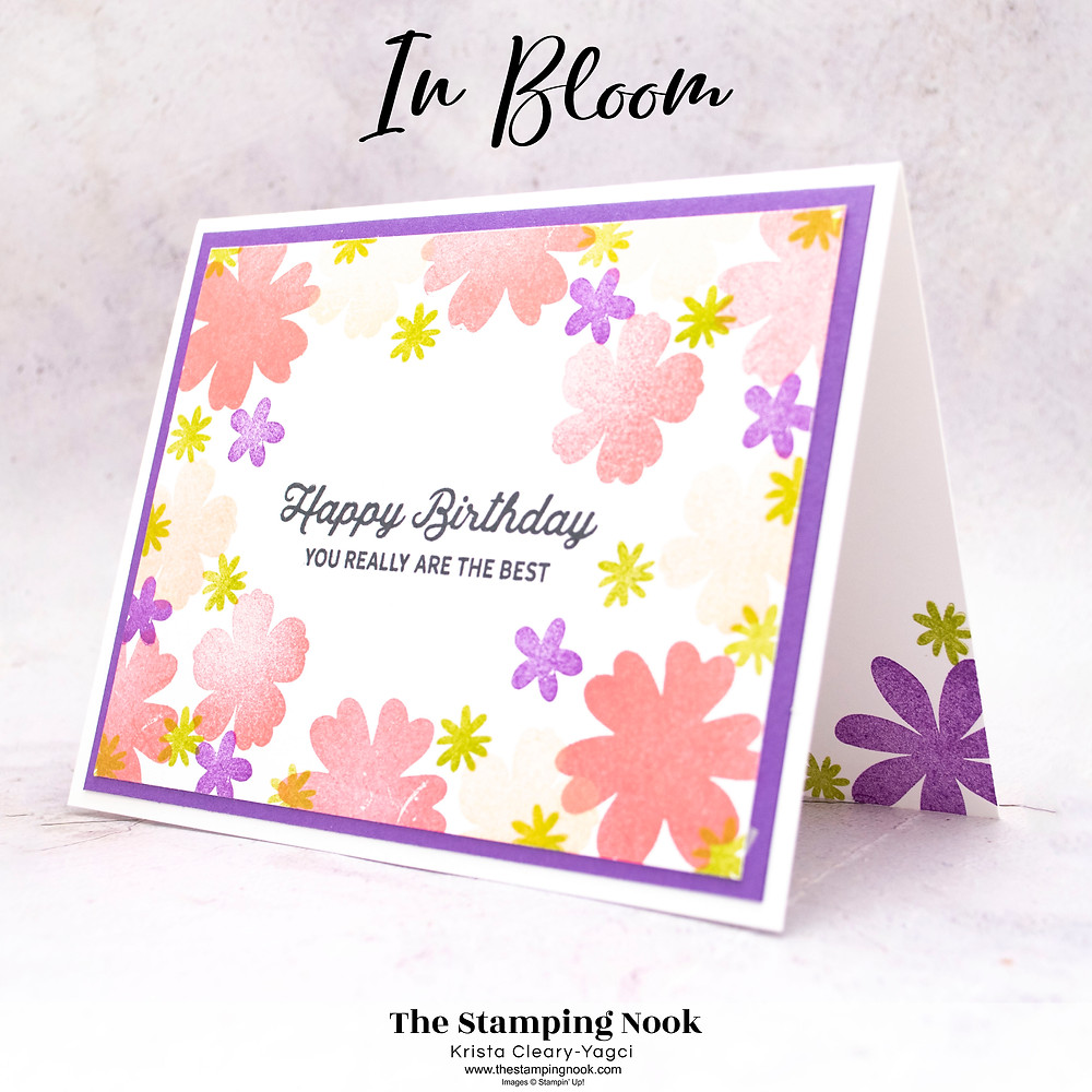 Stampin' Up! Card Ideas - Stampin Up Card Ideas – In Bloom Stamp Set – In Bloom Card Ideas – In Bloom  Stampin Up – Stampin Up In Bloom Cards - Stampin Up Mini Catalog - The Stamping Nook - Krista Cleary-Yagci