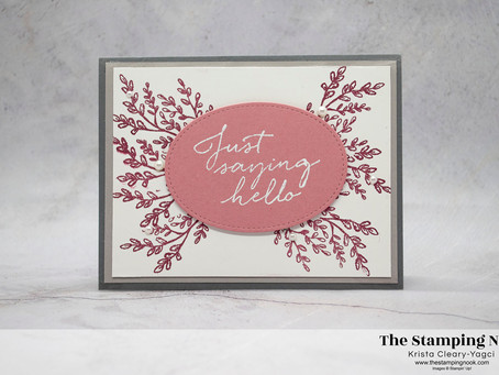 Stampin' Up! Tasteful Touches Just Saying Hello Card - Sunday Stamps Challenge