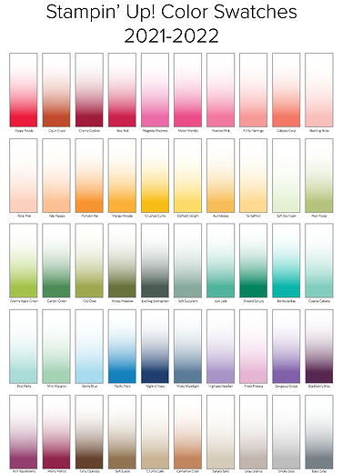 Color Chart Swatches - Stampin' Up!  202