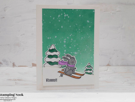 Stampin' Up! Freezin' Fun Skiing Bunny Winter Card
