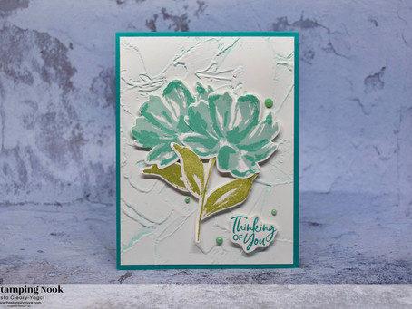 Stampin' Up! Art Gallery Thinking of You Card