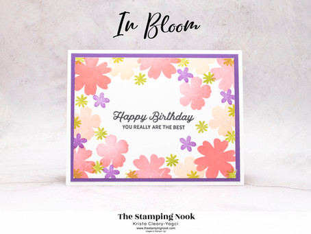 Stampin' Up! In Bloom Quick and Easy Birthday Card