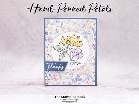 Stampin' Up! Hand-Penned Petals Thanks Card - Sneak Peek