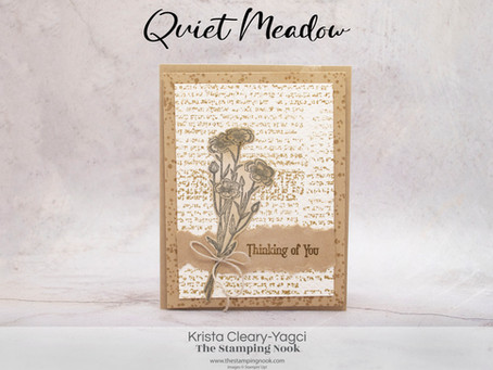 Stampin' Up! Quiet Meadow Thinking of You Vintage Style Card