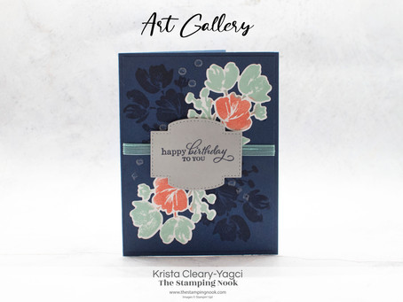 Stampin' Up! Art Gallery Tone on Tone Birthday Card