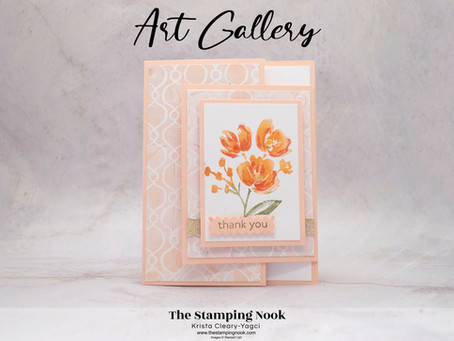 Stampin' Up! Art Gallery Fun Fold Thank You Card