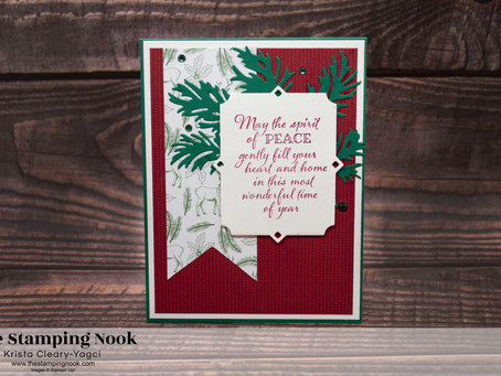 Stampin' Up! Peaceful Boughs and 'Tis the Season Peaceful Christmas Card