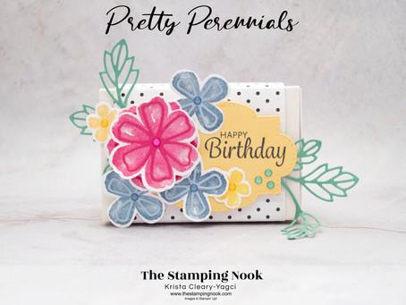 Stampin' Up! Pretty Perennials Treat Box for a Happy Birthday
