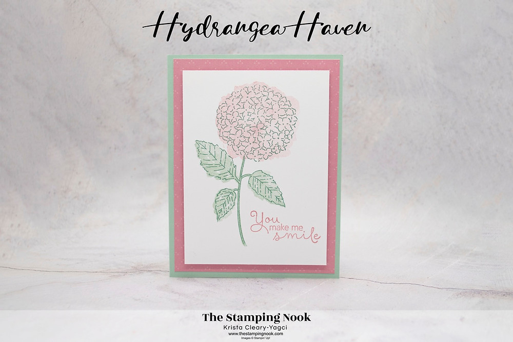 Stampin' Up! Hydrangea Haven Card Ideas - cards for Beginners - Casual Crafter - The Stamping Nook - Krista Yagci - Casually Crafting Design Team