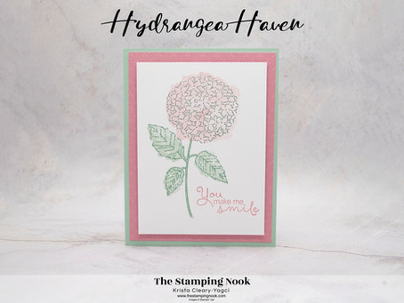 Stampin' Up! Hydrangea Haven Card for the Casually Crafting Blog Hop