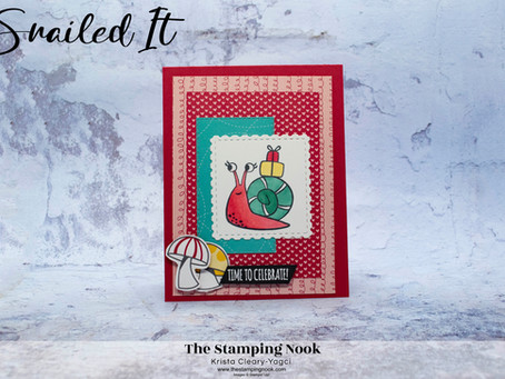 Stampin' Up! Snailed It Time to Celebrate Birthday Card
