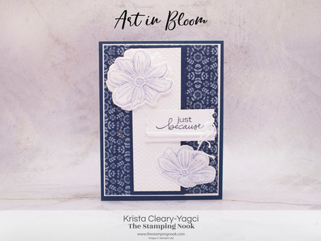 Stampin' Up! Art in Bloom Card with Hybrid Embossing Folder