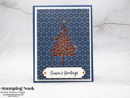 Stampin' Up! In the Pines and Brightly Gleaming Christmas Card