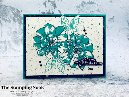 Stampin' Up! To a Wild Rose Card Featuring Ink Splatter Technique