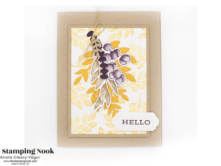 Stampin' Up! Forever Fern Fall Hello Card | The Crafty Carrot Collective