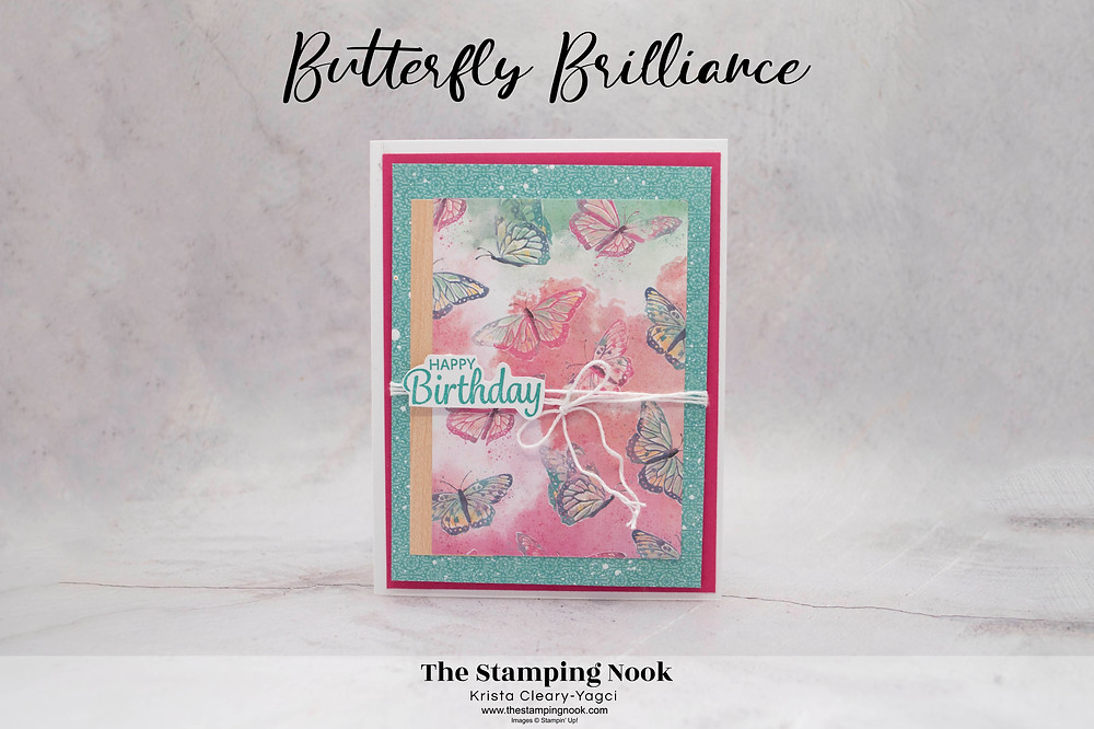 Stampin' Up! Butterfly Brilliance Card Ideas - Birthday Card - The Stamping Nook - Krista-Yagci - Krista Cleary-Yagci