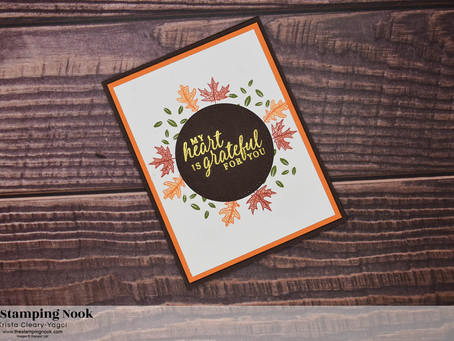 Stampin' Up! Beautiful Autumn Grateful Leaf Wreath Card