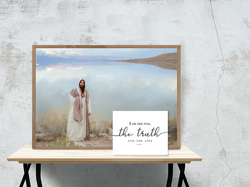 Jesus Christ Fine Art Printable - Christ Art - Instant download - The Truth