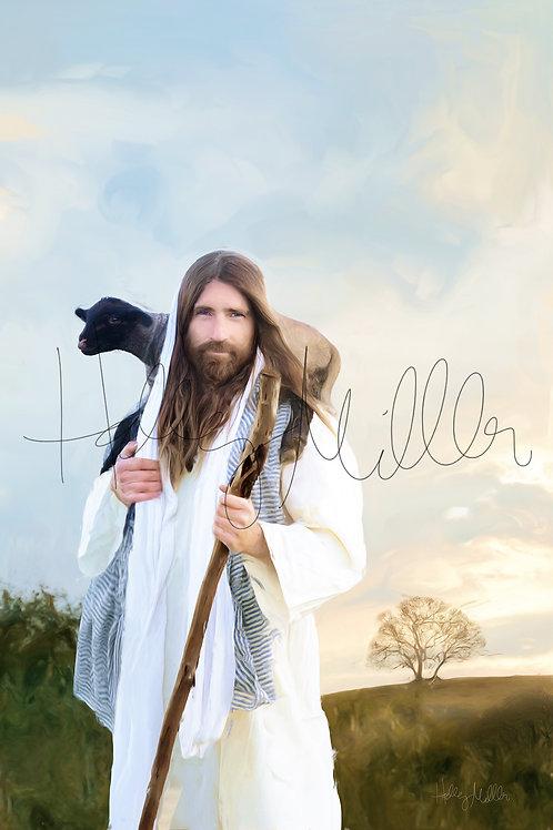 Jesus Christ Fine Art Printable - LDS Art - Christian Wall Art - Feed My Sheep