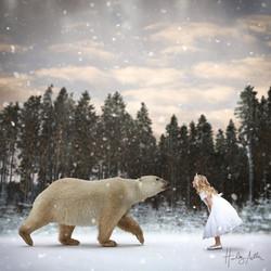 winter polar bear digital backdrop char in crop web