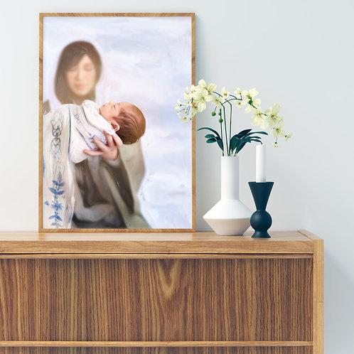 Jesus Christ Fine Art Printable - Christ Art - LDS Art - Marys Gift