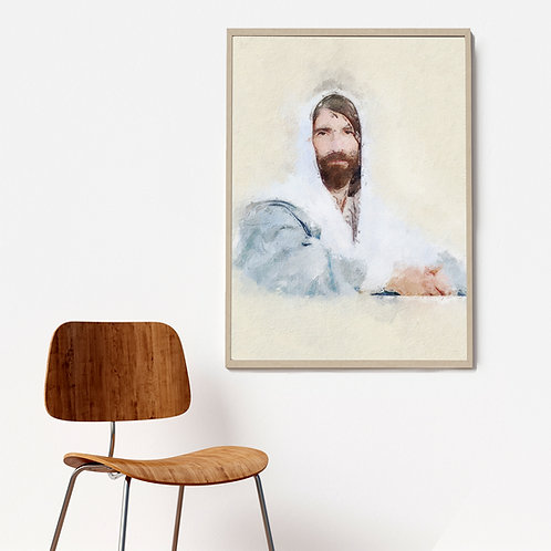 Jesus Christ Fine Art Printable - Savior of my Soul - Christ Art - LDS Art - Mod
