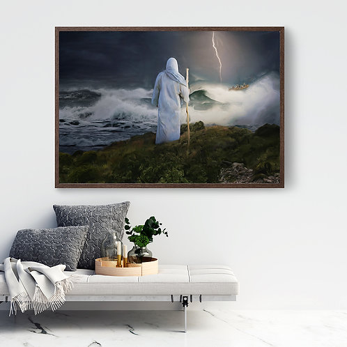Jesus Christ Art - Instant Download - LDS Art - A Fourth Watch God