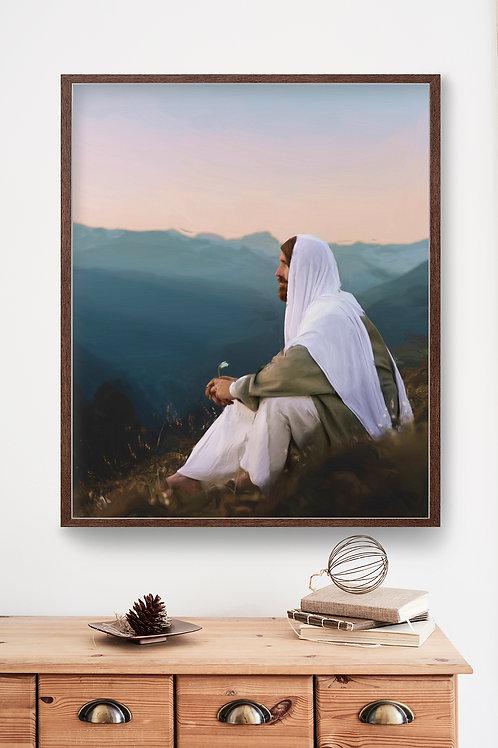Jesus Christ Fine Art Printable - Instant Download -Consider The Lilies