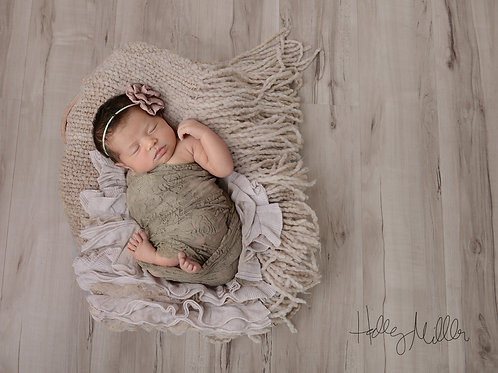 Newborn Girl Digital Backdrop/Background Neutral Gray with Textured Layers