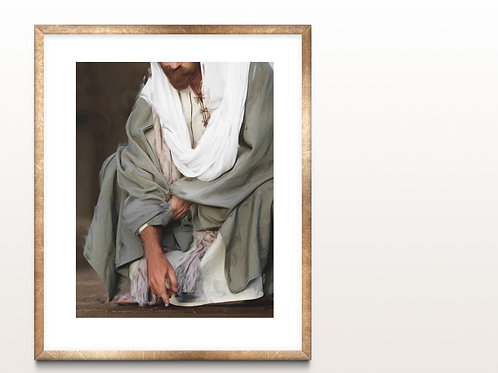 Jesus Christ Fine Art Printable - Bible Art - Instant download - Go Thy Way