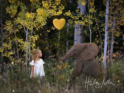 fall elephant digital backdrop 2 child in web