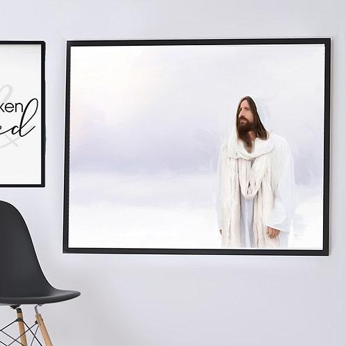Jesus Christ Fine Art Printable - Christ Art - LDS Art - Hear Him