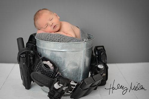 On Sale! Newborn Digital Backdrop/Background/Police/Duty Belt