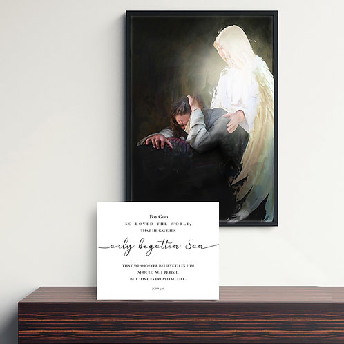 Jesus Christ Fine Art Printable - Instant Download - LDS Art - The Offering