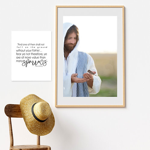 Jesus Christ - Jesus Art Printable - Instant Download - Not One Sparrow