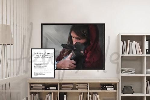 Jesus Christ Fine Art Printable - Inst Download - LDS Art - Finder of The Lost
