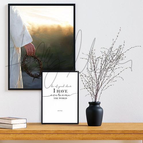 Jesus Christ Fine Art Printable - Instant Download - LDS Art - Overcomer