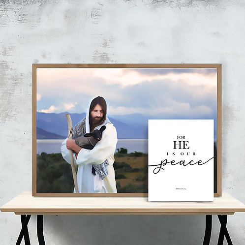 Jesus Christ Fine Art Printable - Instant Download -LDS Art - He is Our Peace