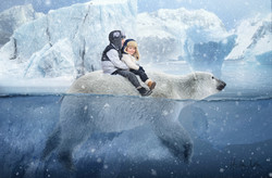 boys on polarbear snowing web