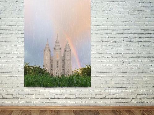 Salt Lake Temple - LDS Temple Art - LDS Kid Art - Temple Painting