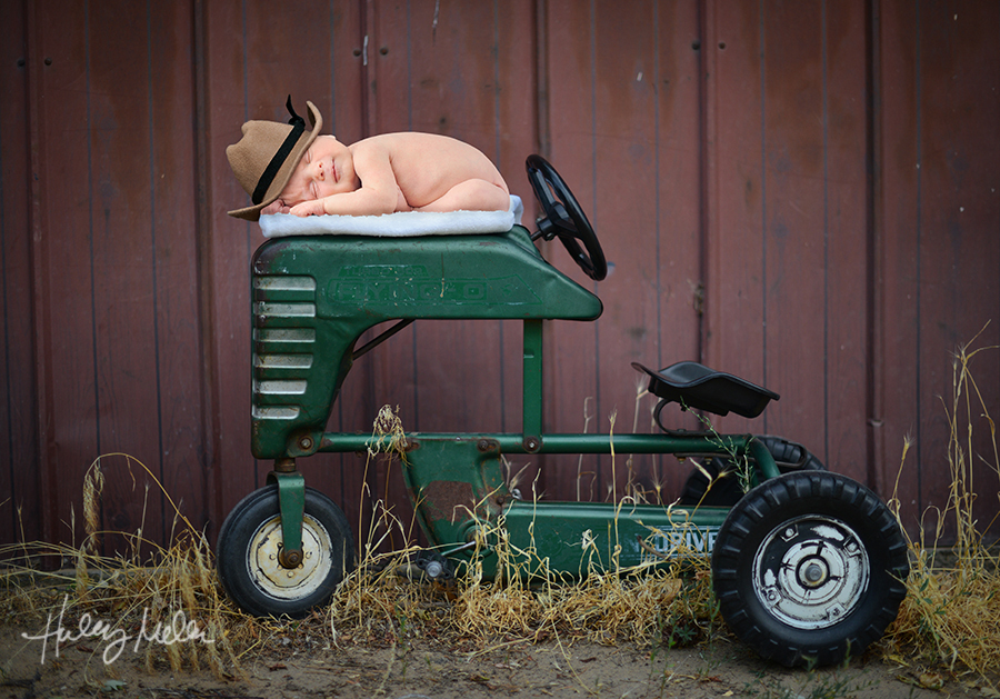 hmcaptures newborn digital backdrop farm truck tractor green outdoor country cowboy baby in web