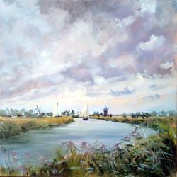 Towards Thurne Mill from Ludham Marsh